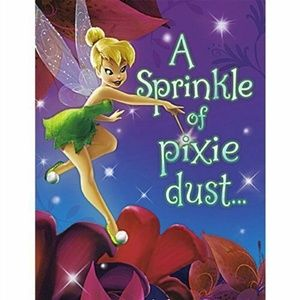 Tinkerbell Pack Of 8 Invitations  - Pixie Dust